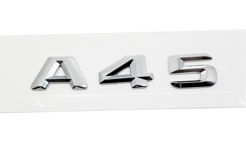 Хромированная Эмблема Шильдик надпись A45 Мерседес Mercedes