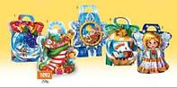 Новогодняя коробка, Новогодняя сумочка 5 дизайнов, 250 гр, Картонная упаковка для конфет,