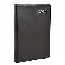 Ежедневник A5 датированный 2020 Leo planner Aldento интегральный,PU,черный 251943