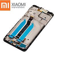 Оригинальный дисплейный модуль Xiaomi Redmi 6A (Черный). Экран + тачскрин + рамка