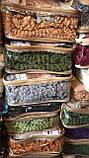 Покривало Чохол Жатка на Кутовий диван Кремовий універсальний натяжна з спідницею, фото 4