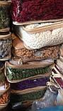 Покривало Чохол Жатка на Кутовий диван Кремовий універсальний натяжна з спідницею, фото 5