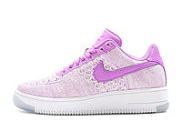 Женские кроссовки Nike Air Force 1 Low Flyknit Purple White W размер 38 UaDrop116013-38, КОД: 233762