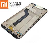Оригинальный дисплейный модуль Xiaomi Mi A2 Lite (Черный). Экран + тачскрин + рамка