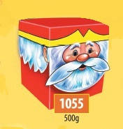 Новогодняя коробка, Дед Мороз, 500 гр, Картонная упаковка для конфет, 15х7,5х27 см