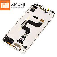 Оригинальный дисплейный модуль Xiaomi Mi A2 (Белый). Экран + тачскрин + рамка