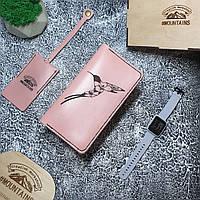 Портмоне кожаное женское Колибри 2.0 розовое, фото 1