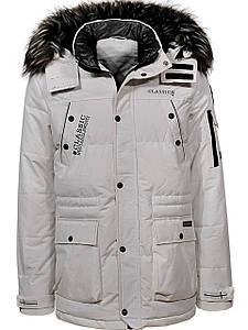Оригинальная Мужская Парка/Куртка/Аляска Glo-Story MMA-6414 White Белая