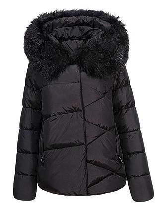 Оригинальная Куртка Пуховик Женская Glo-Story WMA-6563 Black Черная Зима, фото 2