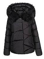 Оригинальная Куртка Пуховик Женская Glo-Story WMA-6563 Black Черная Зима