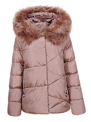 Оригинальная Куртка Пуховик Женская Glo-Story WMA-6562 Сream Кремовый Зима, фото 2