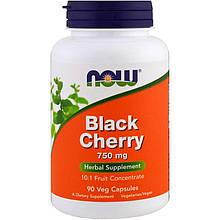 "Черемуха NOW Foods ""Black Cherry Fruit"" 750 мг, фруктовый концентрат (90 капсул)"