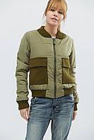 Куртка демисезонная женская короткая зеленая LS-8731-1
