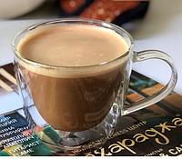 Чашки чайные кофейные двойное дно набор 180 мл 2 шт для кофе капучино американо