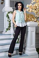 Блузка FLFashion Дакиня в полоску размер XL Зеленая ЖБД 1102, КОД: 266001