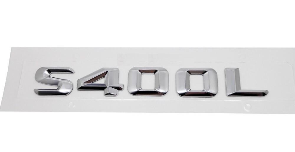 Хромированная Эмблема Шильдик надпись S400L Мерседес Mercedes