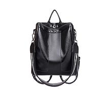 Многофункциональный вместительный рюкзак черный женский код 3-372