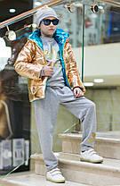Стильная ультраблестящая детская куртка, фото 3