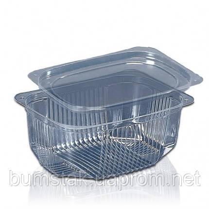 Одноразовый ПС контейнер для еды 500 мл, фото 2