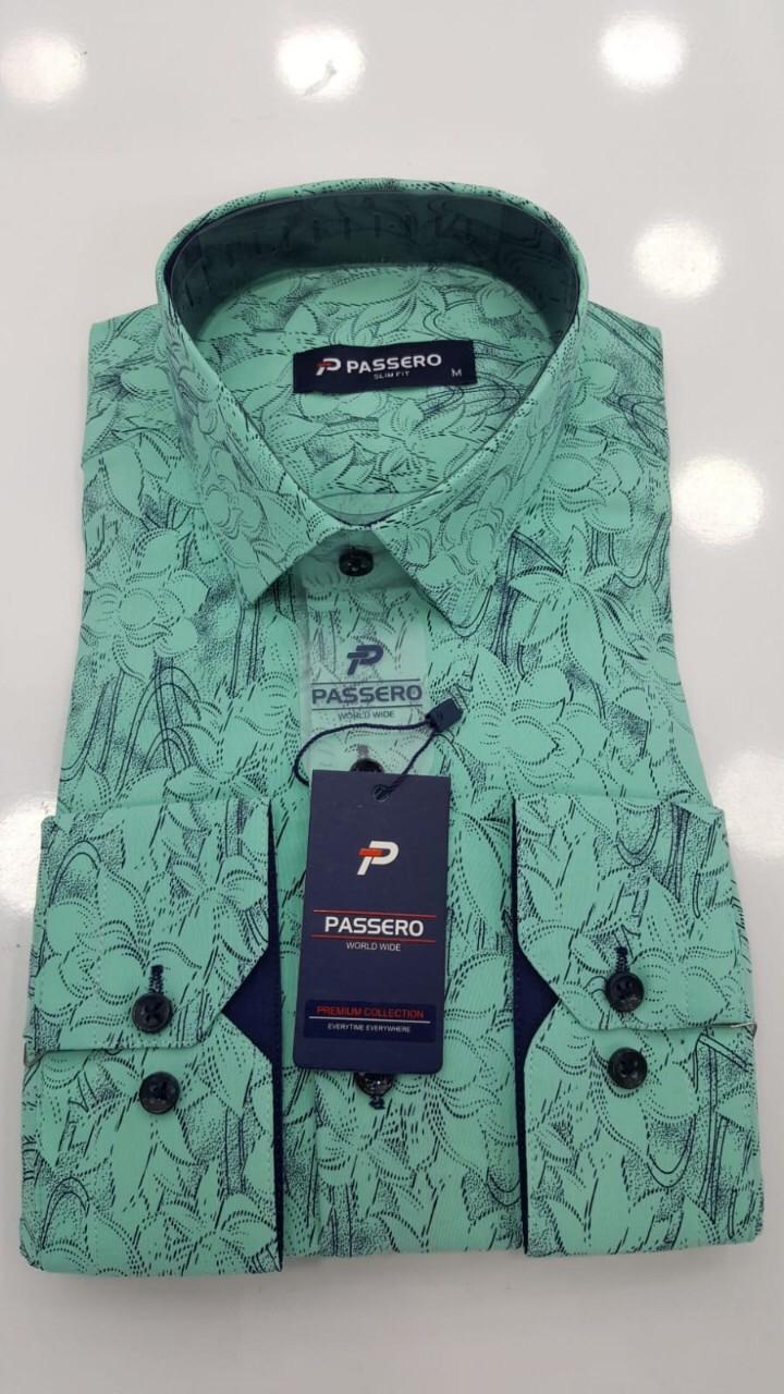 Рубашка Passero slim с принтом