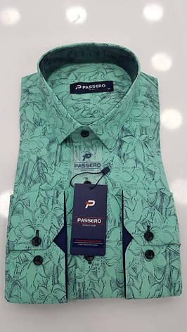 Рубашка Passero slim с принтом, фото 2