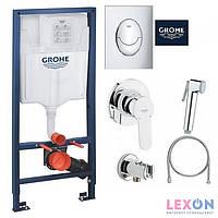 Комплект инсталляция Grohe Rapid SL 39503000 + Гигиенический душ Grohe BauEdge 28512001