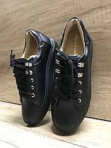 Стильные женские кеды черного цвета Anridecollo 649/161, фото 2