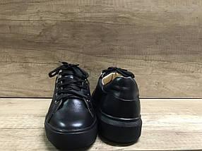 Стильные женские кеды черного цвета Anridecollo 649/161, фото 3