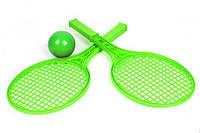 Детский набор для игры в теннис ТехноК (зеленый)  sco