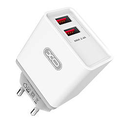 Зарядное устройство XO L31 2 USB 2.4A + кабель Lightning