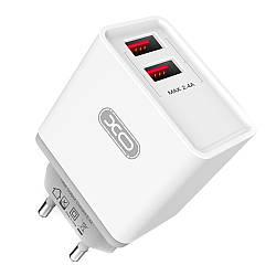 Зарядное устройство XO L31 2 USB 2.4A + кабель Type C