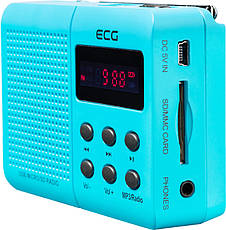 Портативний радіоприймач ECG R 155 U Блакитний, фото 3