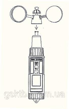Анемометр чашечный PCE-A420 (Германия), фото 2