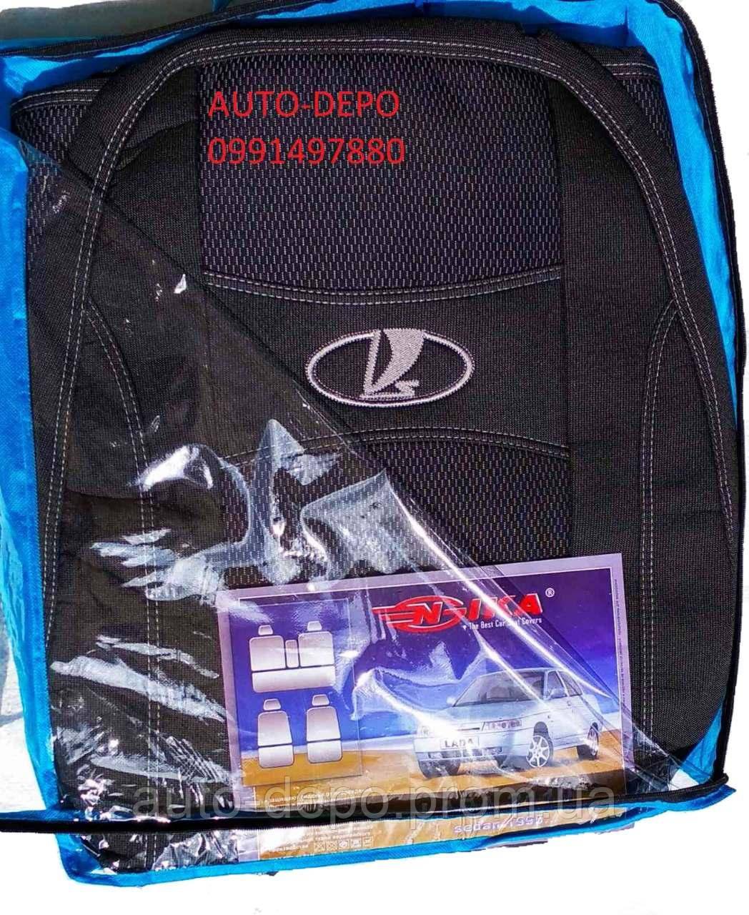 Авто чохли Lada Granta 2011 - sedan (цілісна) 5 підголовників Nika