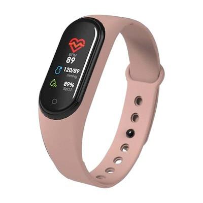 Smart Band M4 смарт фитнес браслет с измерением давления - Розовой
