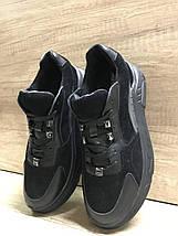 Черные женские кроссовки замша+ кожа 636/58 Anri de collo, фото 2