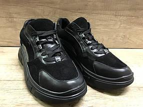 Черные женские кроссовки замша+ кожа 636/58 Anri de collo, фото 3