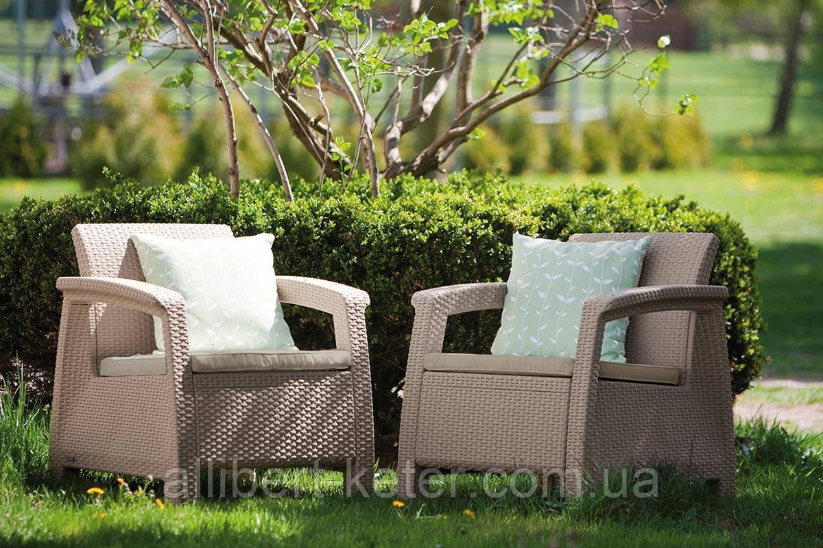 Комплект садових меблів Curver Corfu Duo
