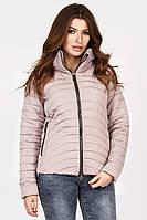Женская демисезонная куртка короткая пудра LS-8822-10, фото 1