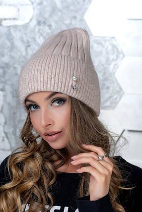 Женская шапка Flirt Сонг One Size пудра, фото 2