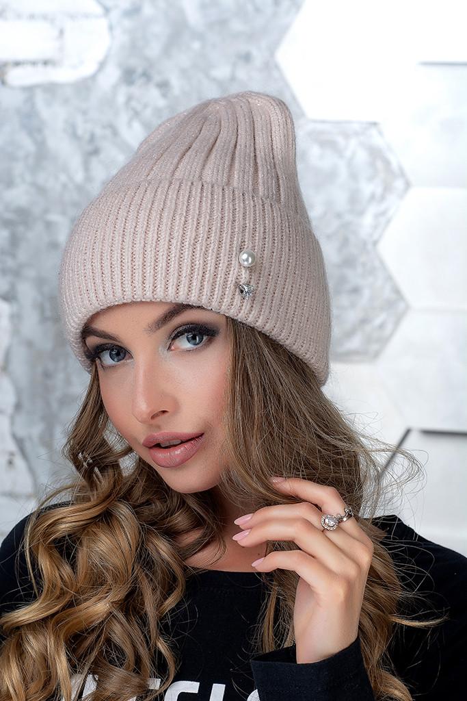 Женская шапка Flirt Сонг One Size пудра
