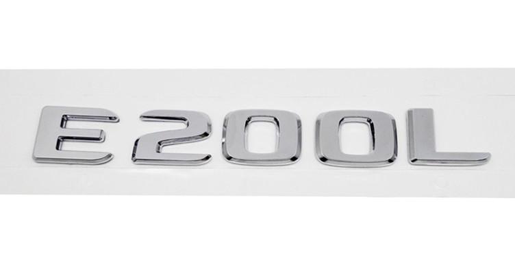 Хромированная Эмблема Шильдик надпись E200L Мерседес Mercedes
