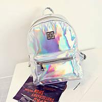 Стильный серебристый рюкзак голографический Givenchy (Живанши) ( код: IBR084S ), фото 1