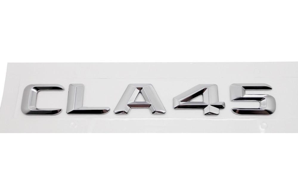Хромированная Эмблема Шильдик надпись CLA45 Мерседес Mercedes