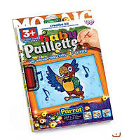 """Картина-мозаика из пайеток """"Baby Paillette: Попугай""""  sco"""