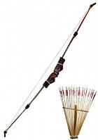 Лук со стрелами 150Х70 см,подарок мужчине
