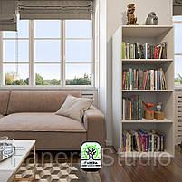 Полиця для книг, стелаж для дому з задньою стінкою на чотири полиці, що регулюються по висоті, фото 3