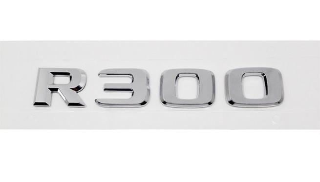 Хромированная Эмблема Шильдик надпись R300 Мерседес Mercedes