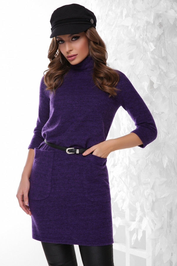 Платье-туника 1804 фиолетовый