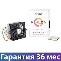 Процессор AMD (AM4) Athlon 220GE, Box, 2 ядерный, 3.4 Ггц, видеокарта Radeon Vega, с кулером (YD220GC6FBBOX)